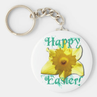 Happy Easter, Daffodil 01.2.T Basic Round Button Keychain