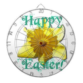 Happy Easter, Daffodil 01.2.T Dartboard