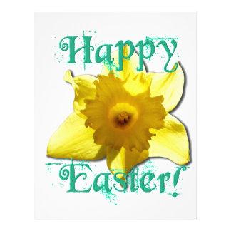 Happy Easter, Daffodil 01.2.T Letterhead