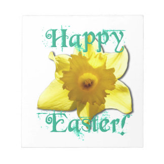 Happy Easter, Daffodil 01.2.T Notepad