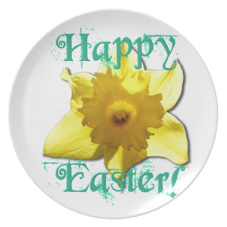 Happy Easter, Daffodil 01.2.T Plate