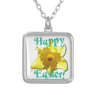 Happy Easter, Daffodil 01.2.T Silver Plated Necklace