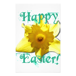 Happy Easter, Daffodil 01.2.T Stationery