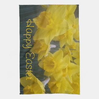 Happy Easter Daffodil Kitchen Towel