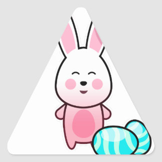 Happy Easter Day Triangle Sticker