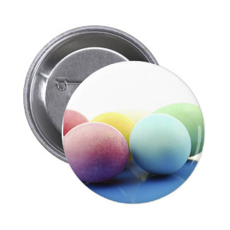 Happy Easter Decorated Eggs Designs Pinback Button