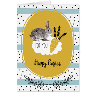 Happy Easter. Easter Bunny Custom Greeting Cards