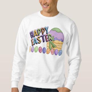Happy Easter Egg Basket Sweatshirt