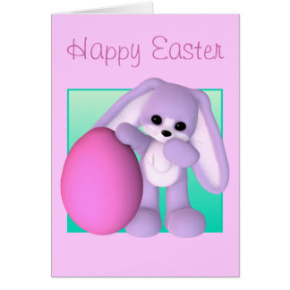 Happy Easter Egg Bunny Card