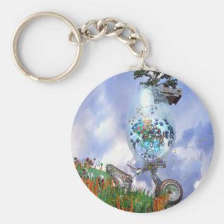 Happy Easter Egg Fantasy Basic Round Button Keychain