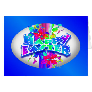 Happy Easter Egg Greeting Note Card