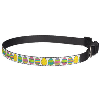 Happy Easter Egg Hunt Painted Eggs Dog Collar