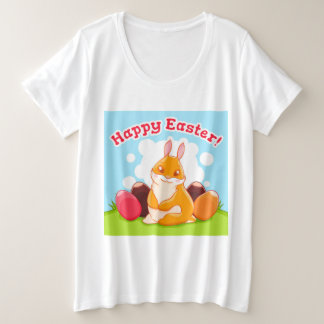 Happy Easter Egg Hunt Plus Size T-Shirt