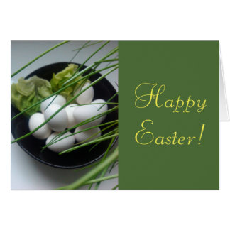 Happy Easter Eggs in Bowl, Greeting Card