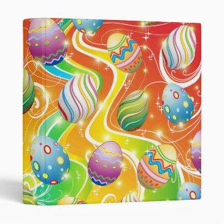 Happy Easter Eggs Ornamental Design Vinyl Binders