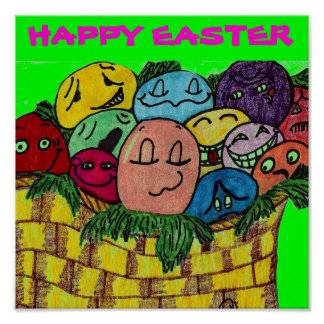 HAPPY EASTER EGGS poster