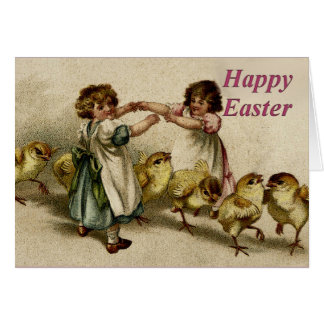 Happy Easter Family Sisters Greeting Card