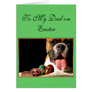 Happy Easter Father Boxer greeting card