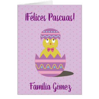 Happy Easter/Felices Pascuas Spanish Greeting Card