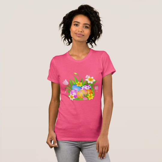 Happy Easter Floral T-Shirt
