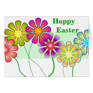 Happy Easter flowers Greeting Card