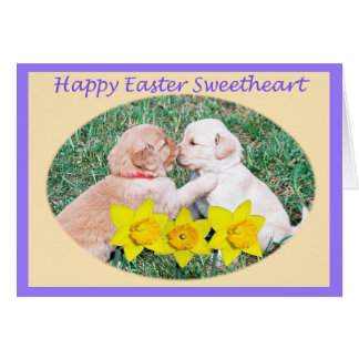 Happy Easter for Sweetheart Card