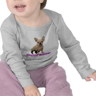 Happy Easter French bulldog baby shirt