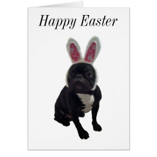 Happy Easter French Bulldog Bunny Card