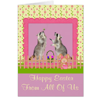 Happy Easter From All Of Us Greeting Card
