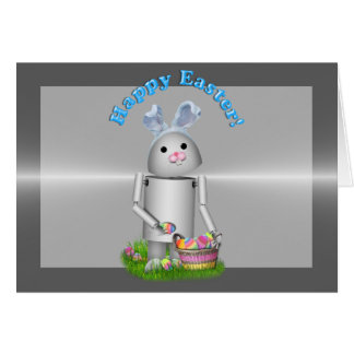 Happy Easter From Lil Robo-x9 (w/Metal Layer) Card