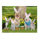 Happy Easter from Myrtie's Human! Postcard