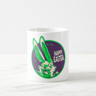 happy easter funny bunny cartoon coffee mug