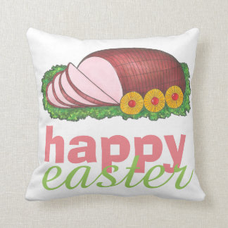 Happy Easter Glazed Sliced Ham Foodie Pillow