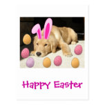 Happy Easter Golden Retriever Post Card