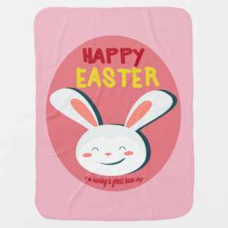 Happy Easter Good Hare Day Baby Blanket