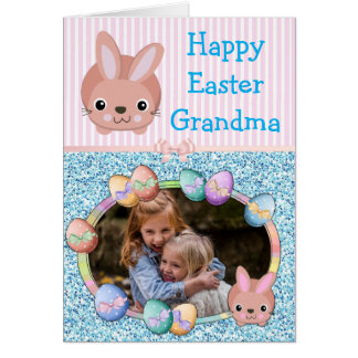 Happy Easter Grandma Personalized Card