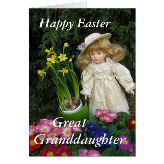 Happy Easter Great Grandaughter Card