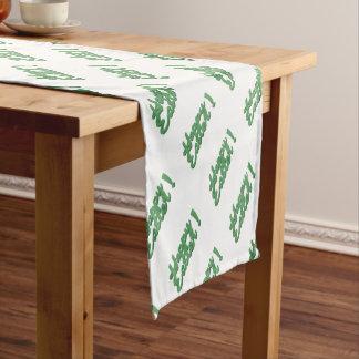 Happy easter green logo short table runner