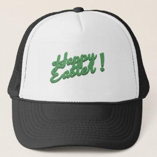 Happy easter green logo trucker hat