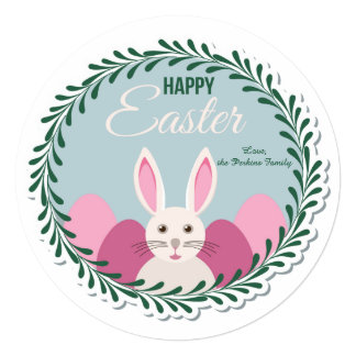 "Happy Easter Greeting Card 5.25"" Square Invitation Card"