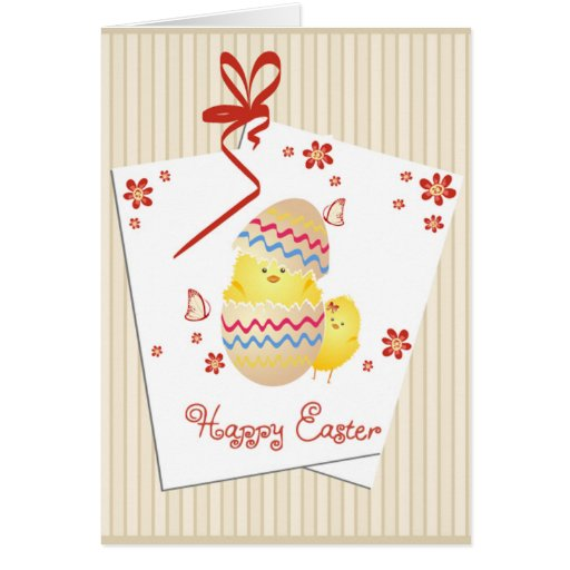 Happy Easter Greeting Card - Blank inside