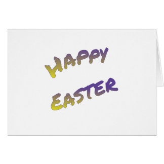 Happy Easter greeting card, colorful word art Card
