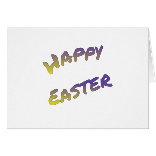 Happy Easter greeting card, colourful word art Card