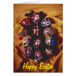 Happy Easter Greeting Card~Decorative Easter Eggs Greeting Card