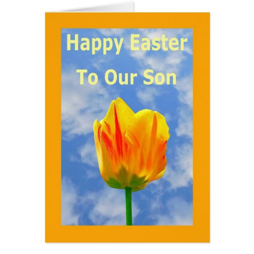 Happy Easter Greeting Card for Our Son