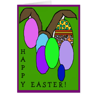 HAPPY EASTER GREETINGS GREETING CARD
