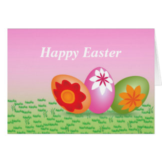 Happy Easter Greetings Note Card