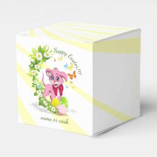Happy Easter Heart Nose Puppy Cartoon Favor Box