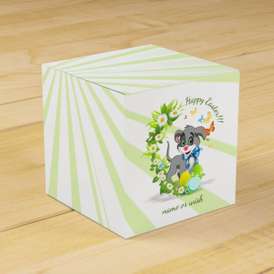 Happy Easter Heart Nose Puppy Cartoon Favor Box
