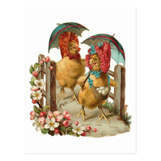 Happy Easter Hens Postcards